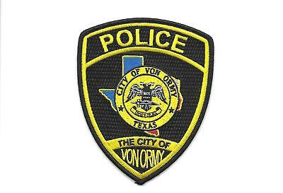 New ListingTEXAS -CITY OF VON ORMY POLICE DEPT-1 MAN DEPT- 1100 PEOPLE- HARD TO