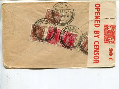 India censor cover to USA 1940