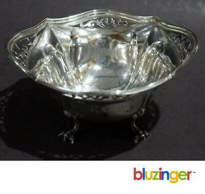 Antique ROGERS, LUNT & BOLEN #117 Sterling Silver Pierced Footed Bowl