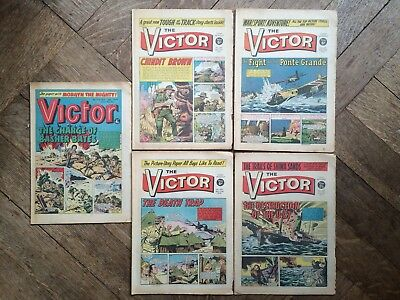THE VICTOR comic lot , 482, 483, 484, 537, & 712 , 1970-74, VG condition