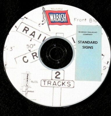 Wabash Railroad Stanard Signs PDF Pages on DVD