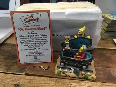 The Simpsons Halloween Train Of Terror Oh, Precious Blood Statue #0354 Hamilton