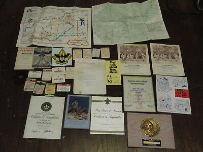 Vintage Lot Of 29 Bsa Boy Scouts Of America Maps Certificates Membership Cards
