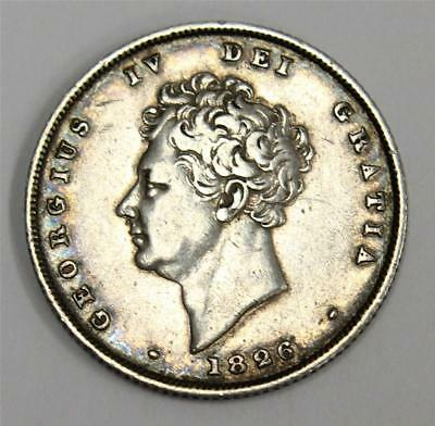 1826 shilling Great Britain S3812 George IV VF30