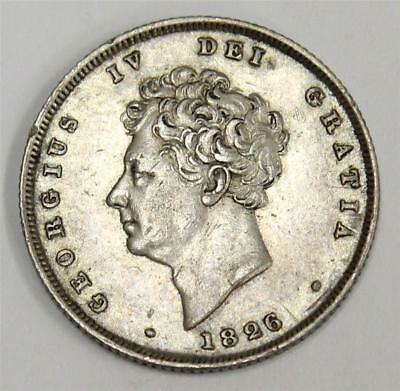 1826 shilling Great Britain S3812 George IV EF40
