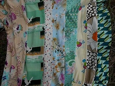 Vintage 1960's 1970's Lot of 8 Super Funky Unique Print BLOUSES   B 36 to 42""