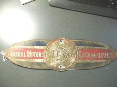 Prr Pennsylvania Diesel Builders Plate Emd Gm Sd-45 Prr #6133 Pc Cr