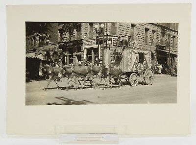 Circus Wagon Drawn by Horses, 1920's, Circus Day Parade Vintage Photograph