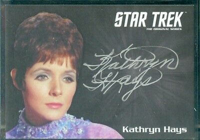 STOS Captain's Collection Kathryn Hays as Gem  Silver Sig Auto Card