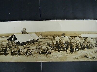 ANTIQUE WWI PANORAMIC PHOTOGRAPH of TOBYHANNA MILITARY RESERVATION  ca.1913