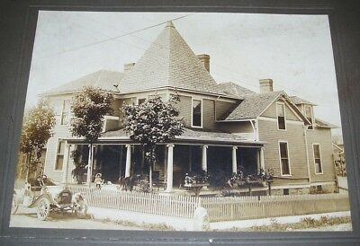 2 C.1900 Cabinet Photos: Shelbyville, Tennessee Railroad President's Home & Car!