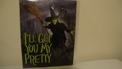 New WIZARD OF OZ wicked witch new tin sign / I'LL GET YOU MY PRETTY
