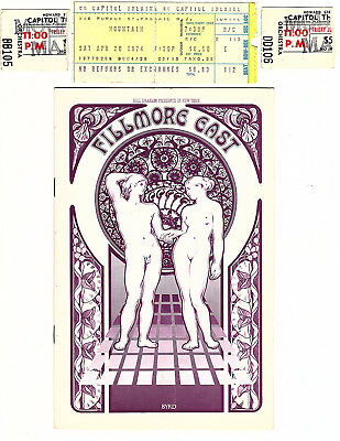 MOUNTAIN Concert Lot - - Fillmore East Program,  Capitol Theatre Ticket Stubs