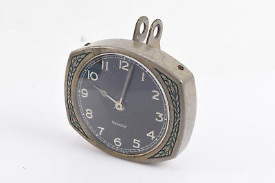 Vintage Westclox Antique Accessory Car Clock Black Face WORKS V09