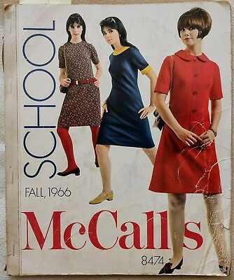Vintage 1960s McCalls Sewing Pattern Catalog Counter Book 1966 - Audrey Hepburn!