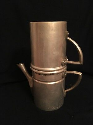 Vintage Aluminum Neapolitan Flip Coffee Maker, Made in Italy