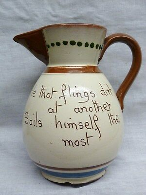 motto jug longpark torquay ware terracoota verse hot water coffe pot watcombe