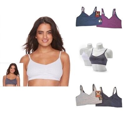 b28da160f2bd2 ... Front Close Sports Bra White 34 96014 NWT.  12.66 Buy It Now 21d 20h.  See Details. Fruit of the Loom 2 Pack Bra Set Ladies Bra Ultra Soft Cotton  Blend ...