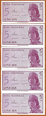 LOT, Indonesia, 5 x 5 Sen, 1964, P-91, UNC