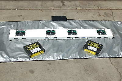 "Desco Critical Environment Overhead Ionizer 48"" NEW Fan  EMITTER CASSETTES +KEY"
