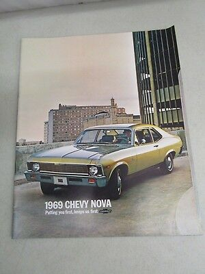 Vintage DEALERSHIP BROCHURE  *1969 CHEVY NOVA*