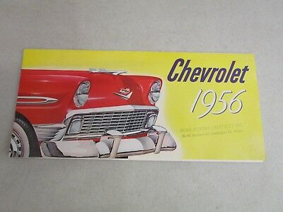 Vintage DEALERSHIP BROCHURE  *CHEVROLET 1956*