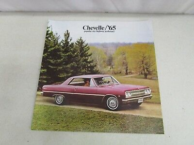 Vintage DEALERSHIP BROCHURE  *CHEVELLE/'65*