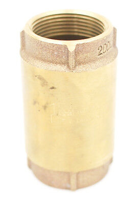"""Campbell Check Valve CV-5T 1-1/4""""  Lead Free Brass Stainless Spring 200 PSI"""
