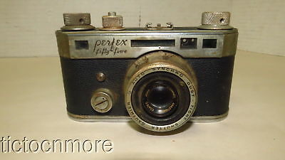VINTAGE PERFEX FIFTY FIVE CAMERA w/ STEINHEIL ANASTGMAT COATED 45MM f/2.8 LENS