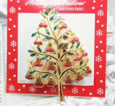 NEW Holiday Celebrations by Christopher Radko Christmas Partridge Pear Tree Pin