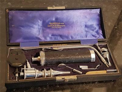"1930's Cased Medical ""Super Diagnostic"" Opthalmoscope/ Auroscope by Klinostick"