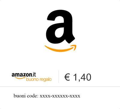 1,4 € Euro Amazon Buono Regalo Amazon.it via e-mail Buoni Regalo Cedola Coupon