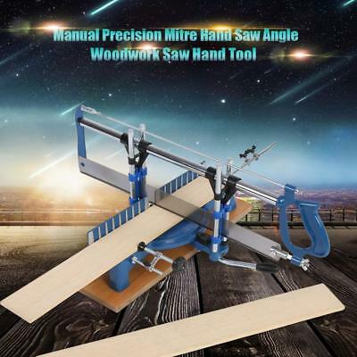UK Iron Manual Precision Mitre Hand Saw Angle Woodwork Carpentary Saw Hand Tools