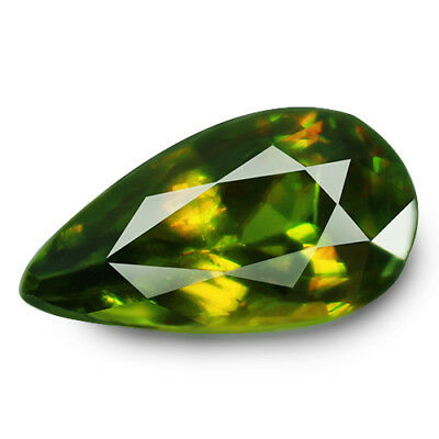 2.04ct Natural earth mined extremely rare multi color flash color change sphene