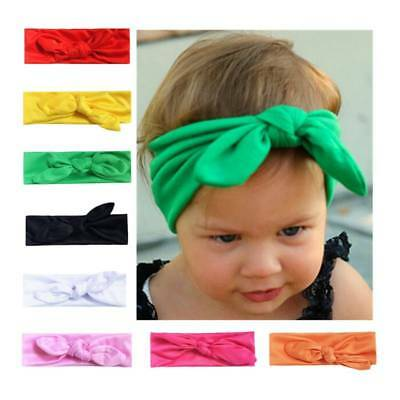 Baby Girls Rabbit Ear Hairband Bunny Kids Turban Knot Bow Hair Bands Head Wraps