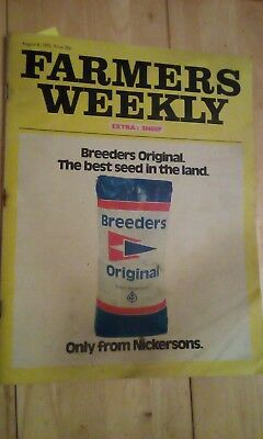 Farmers Weekly August 1975, Same Tractor, BP adverts