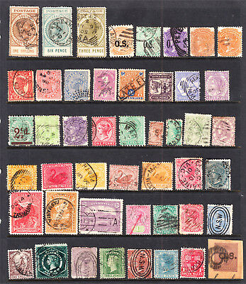 Page Australian States Used To 2 X 1/- Values (47 Stamps)(F87)