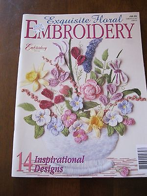 Exquisite Floral Embroidery:14 Designs:1999:Pattern Sheet NOT Attached:Preloved