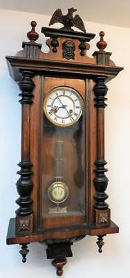walnut cased veinna wall clock,c1900s