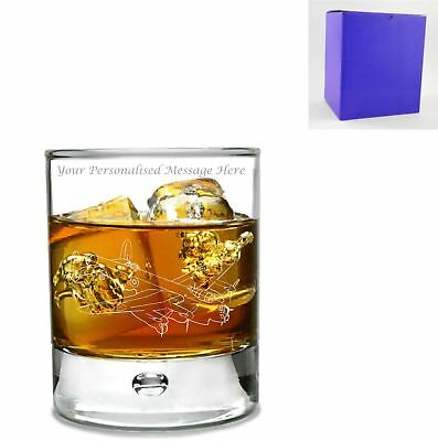 Ice Hockey Player Design in gift box Personalised Bohemia Crystal Whisky Glass