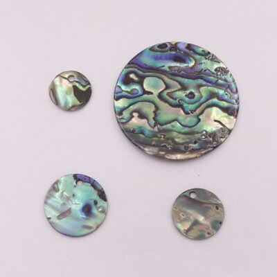 Natural Green Abalone Coin Shell Top Hole For Pendant Earring 10mm-30mm Choose