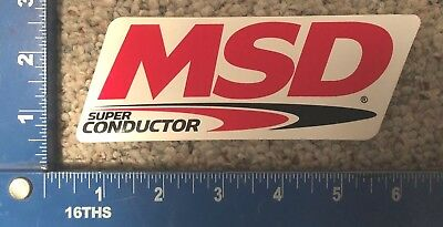 MSD Super Conductor Sticker Coil Pack, Plug Wires Distributor Chevy Ford Dodge
