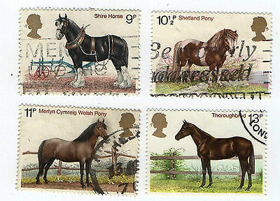 GB Stamps SG1063-1066, 1978 Horses. Multicoloured Used Set