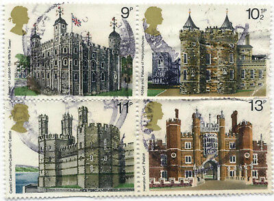 GB Stamps British Architecture. Historic Buildings SG 1054-1057 Used set