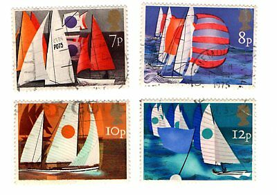 GB Stamps SG980-983 1975 Sailing. Multicoloured. Complete Used Set