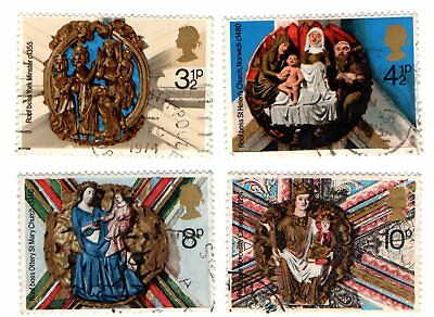 GB Stamps SG966-969 1974 Christmas. Church Roof Bosses. Multicoloured