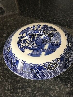 """Turine Lid Blue And White Swinnertons Old Willow Pattern 7 1/2"""""""