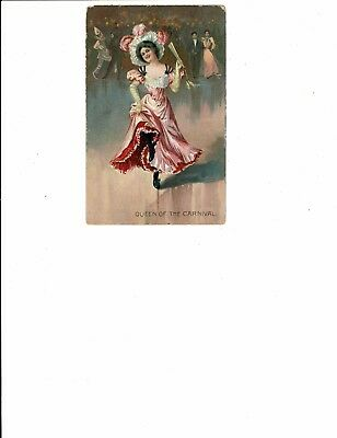 1 Card Lot, Comic/Greeting, R. Tuck, Queen of the Carnival Dancing! Series 117