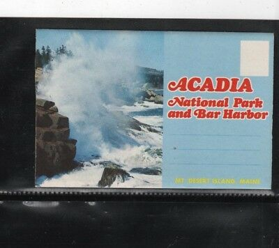 Collectibles---Travel folder (Acadia Nat. Park & Bar Harbor)---unused