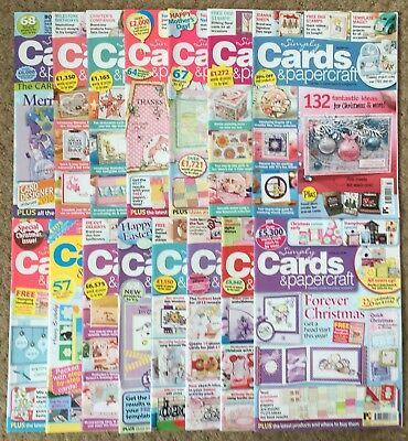 Lot of 15 Simply Cards and Papercraft Magazines Card Making Craft